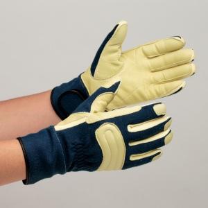 消防用手袋 MK-FM-2 耐切創性手袋 ニットとノーメックスニットの二重編 ケブラー(R) グローブ 作業手袋 紺 【ランキングにランクイン】