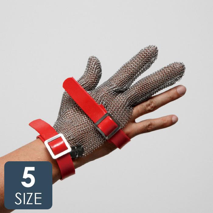 耐切創性手袋 鎖手袋 MST-330(M)PU 3本指 PUマグネット 【ステンレス製切創防止手袋 左右兼用】 クサリ グローブ くさり 作業手袋 【SS/S/M/L/LL】