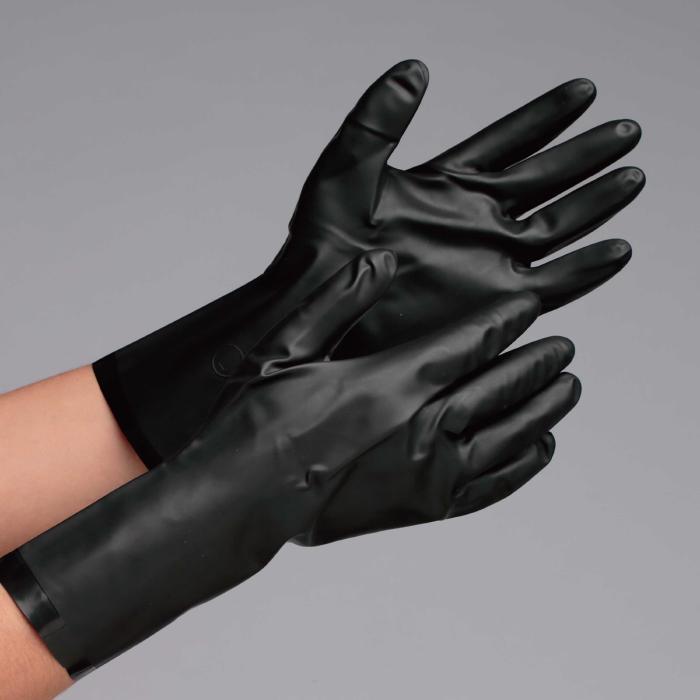 ダイヤゴム 作業手袋 フッ素 ゴム手袋 【塩素系溶剤、芳香族溶剤に対して優れた耐透過性、耐溶剤性】 フッ素ゴム製手袋 ダイローブ730(R) グローブ 作業手袋 作業用手袋 [Lサイズ]