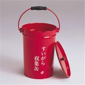 低価格 容量8.2リットル すいがら入れ 新着セール バケツ缶 テラモト 吸殻入れ 赤 すいがら収集缶