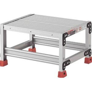 トラスコ中山 TRUSCO 工事用品 はしご・脚立 作業用踏台 アルミ合金製作業台 1段 TSF163