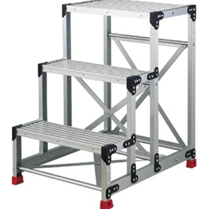 トラスコ中山 TRUSCO 工事用品 はしご・脚立 作業用踏台 アルミ合金製作業台3段 TSF369