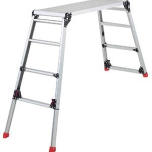 トラスコ中山 TRUSCO 工事用品 はしご・脚立 足場台 足場台 脚部伸縮タイプ 高さ60~91cm TDWG610