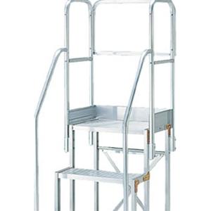 トラスコ中山 TRUSCO 工事用品 はしご・脚立 作業用踏台 作業台用階段両手すり天場三方 TSF-51015用 TSFTE10