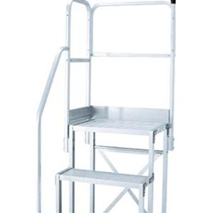 トラスコ中山 TRUSCO 工事用品 はしご・脚立 作業用踏台 作業台用階段片手すり天場二方 TSF-51015用 TSFTE15