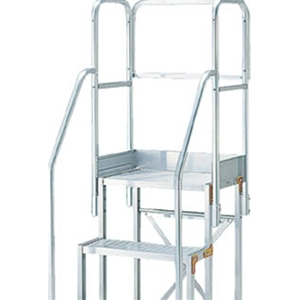 トラスコ中山 TRUSCO 工事用品 はしご・脚立 作業用踏台 作業台用階段両手すり天場三方 TSF-369・4612用 TSFTE5