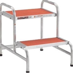 トラスコ中山 TRUSCO 工事用品 はしご・脚立 作業用踏台 アルミ製作業用踏台 アジャスター付 AFA2