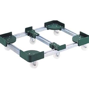 トラスコ中山 TRUSCO 物流保管用品 運搬台車 コンテナ台車 伸縮式コンテナ台車6輪型400x800 FCD64080