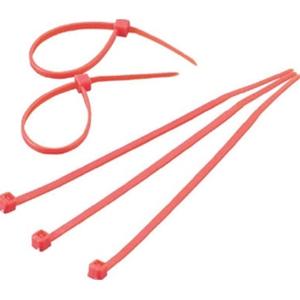 トラスコ中山 TRUSCO 作業用品 梱包結束用品 結束バンド ケーブルタイ幅8.0mmX長さ450mm最大結束φ128赤 赤 TRCVR450R