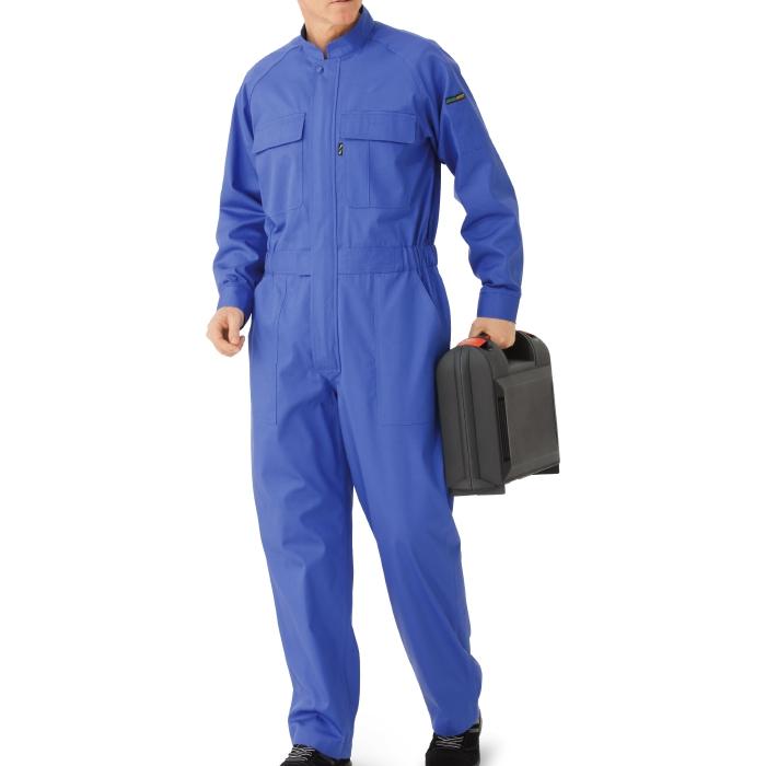 綿100% 帯電防止ツナギ ミドリ安全 作業服 作業着 SE63 ブルー 仕事着