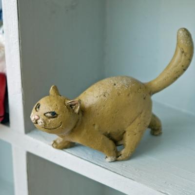 限定Special Price ネコちゃんらしいお顔がかわいい猫マスコット きっと考えていることは今晩のおかずのお魚のこと? お散歩中の茶猫ちゃん ねこコレクション 上品