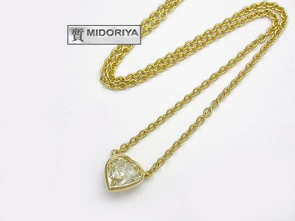 【緑屋質屋】平和堂 ダイヤモンドネックレス 1.003ct K18YG【中古】【smtb-s】