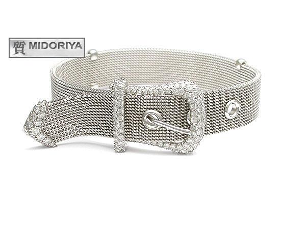 Tiffany Mesh Buckle Bracelets Pt950
