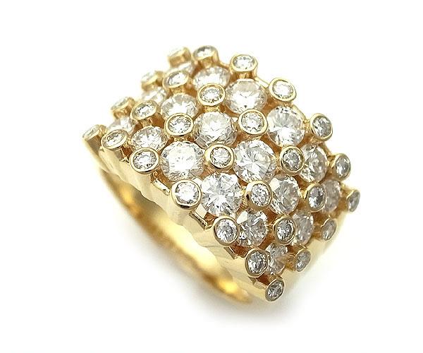【緑屋質屋】田崎(タサキ・TASAKI) ダイヤモンドリング 2.47ct K18YG【中古】【smtb-s】