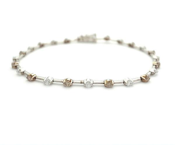 【緑屋質屋】DIAMOND LINE(ダイヤモンドライン) ダイヤモンドブレスレット 1.25ct【中古】