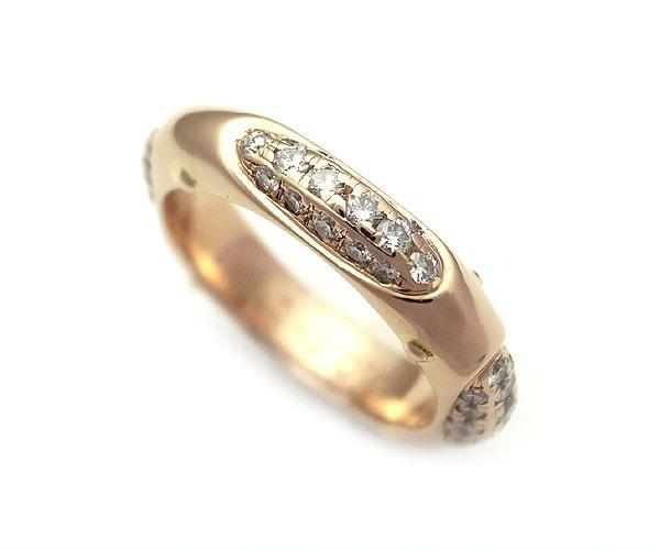 【緑屋質屋】E-NO'S(イーノス) ダイヤモンドリング 1.01ct K18PG【中古】