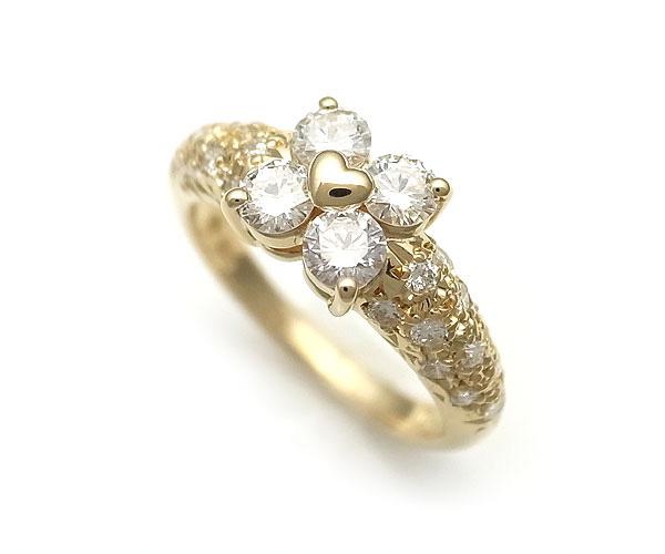 【緑屋質屋】田崎(タサキ・TASAKI) ダイヤモンドリング 0.69ct K18YG【中古】