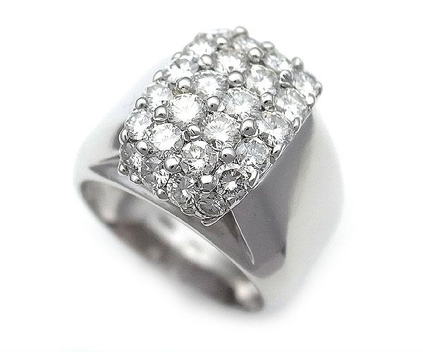 【緑屋質屋】ポンテヴェキオ ダイヤモンドリング 1.66ct K18WG【中古】【smtb-s】
