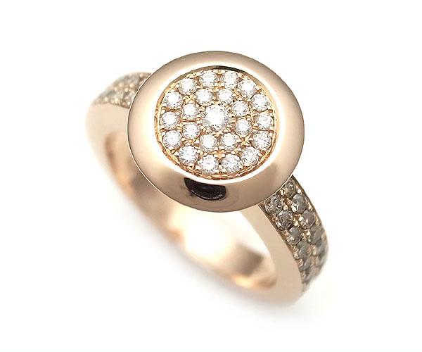 【緑屋質屋】Casa Gi(キャサジ) ダイヤモンドリング 0.85ct K18PG【中古】【smtb-s】