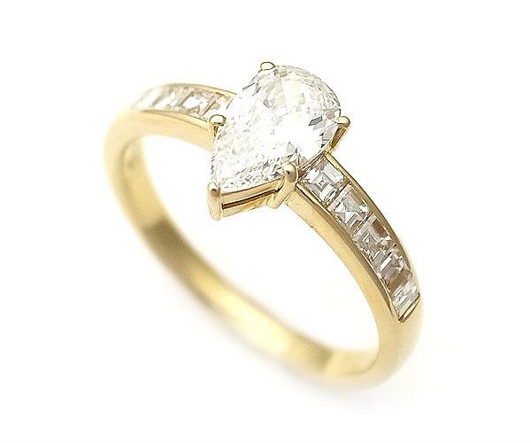 【緑屋質屋】MONNICKENDAM(モニッケンダム) ダイヤモンドリング 0.55ct K18YG【中古】【smtb-s】