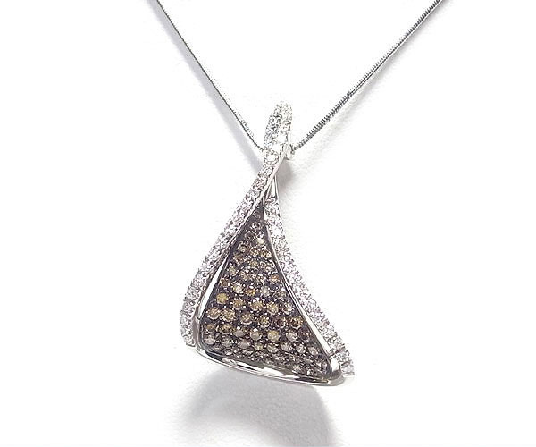 【緑屋質屋】ステファンハフナー ダイヤモンドネックレス K18WG【中古】
