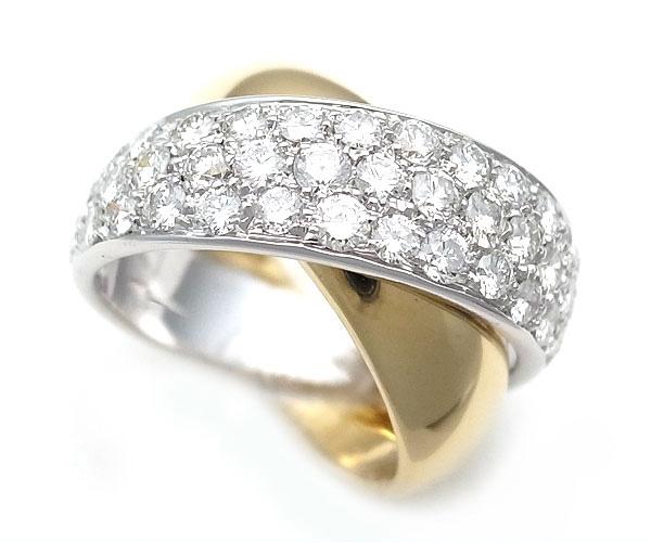 【緑屋質屋】SCAVIA(スカヴィア) ダイヤモンドリング 1.65ct K18YG/WG【中古】