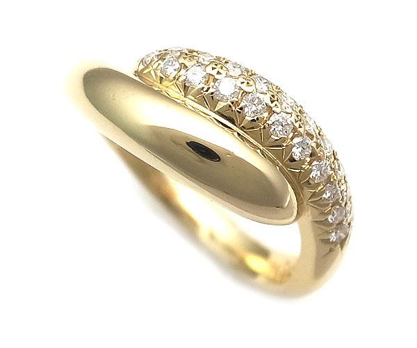【緑屋質屋】田崎(タサキ・TASAKI) ダイヤモンドリング 0.21ct K18YG【中古】