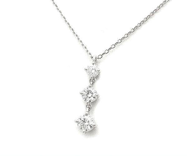 【緑屋質屋】サマンサティアラ ダイヤモンドネックレス K18WG【中古】