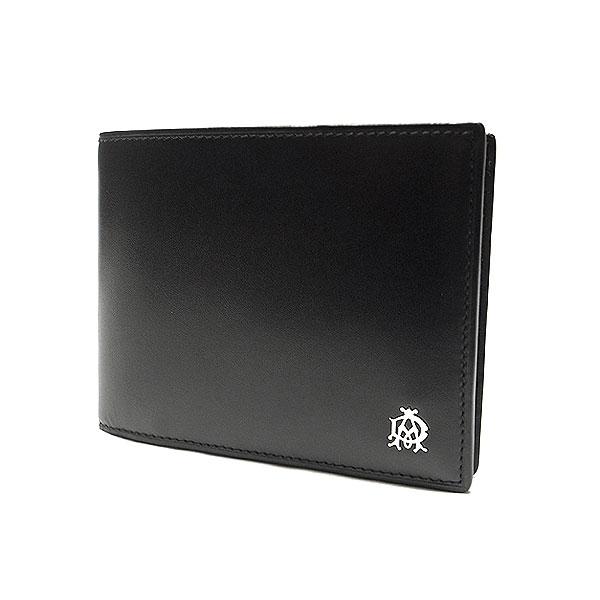 【緑屋質屋】ダンヒル 2ツ折り財布 カーフ/ブラック【中古】【smtb-s】