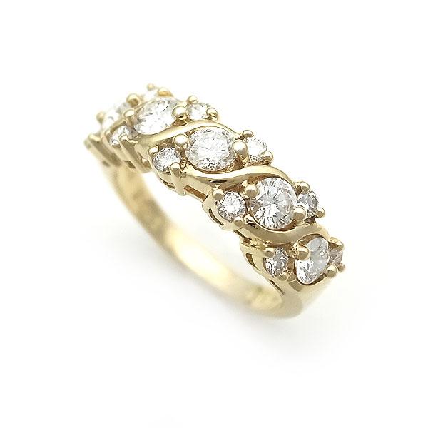 【緑屋質屋】ミキモト ダイヤモンドリング 0.83ct K18YG【中古】