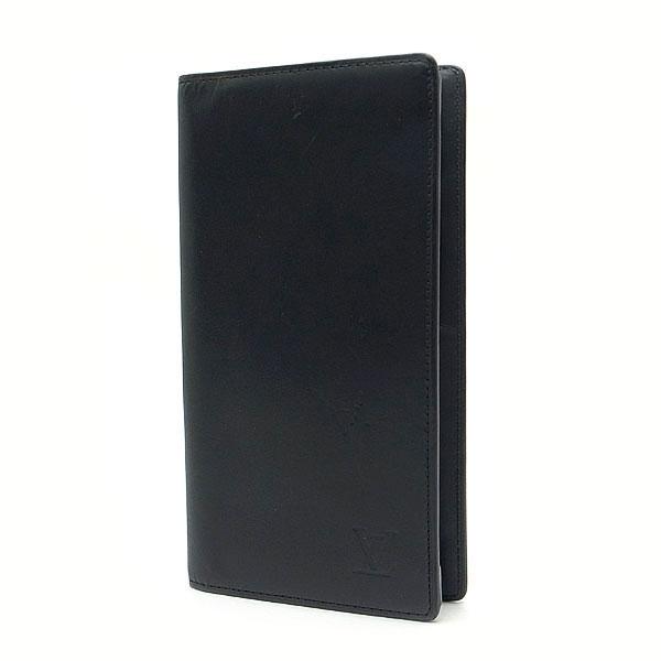 【緑屋質屋】【訳あり】ルイヴィトン M85401 長財布 ポルトバルール ノマド/ブラック【中古】