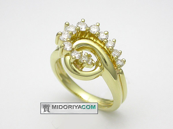 【緑屋質屋】JOSE HESS ダイヤモンドリング 0.62ct K18YG【中古】【smtb-s】
