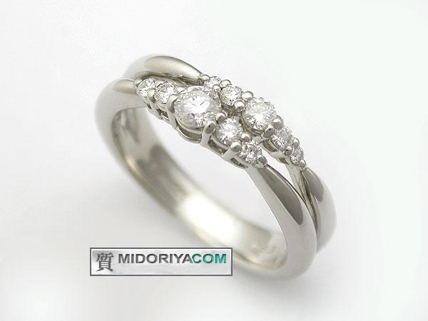 【緑屋質屋】星の砂 ダイヤモンドリング 0.33ct Pt900【中古】