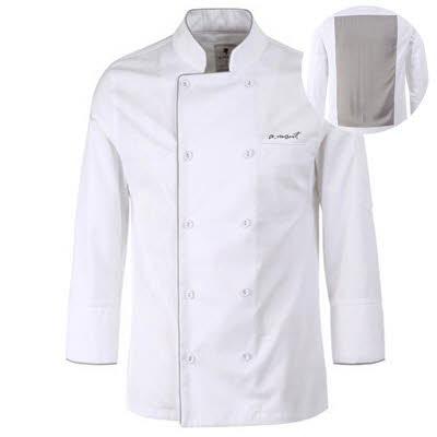 ブリティッシュ オーガニック シェフジャケット☆Bamboo moisture Chef coat (White) #AJ1584☆ユニフォームデザイナー専門ブランド a.mont☆飲食店・ホテル・サービスユニフォーム(制服)接客・厨房・コックコート・エプロンなどの専門店です♪ ☆a-montジャケット