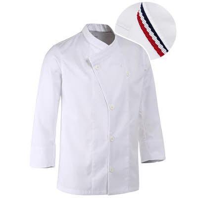 ブリティッシュ オーガニック シェフジャケット☆Parisiene Chef coat (White) #AJ1585☆ユニフォームデザイナー専門ブランド a.mont☆飲食店・ホテル・サービスユニフォーム(制服)接客・厨房・コックコート・エプロンなどの専門店です♪ ☆a-montジャケット