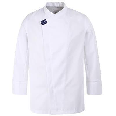 ブリティッシュ オーガニック シェフジャケット☆Hidden Cool mesh point Chef coat (White) #AJ1587☆ユニフォームデザイナー専門ブランド a.mont☆飲食店・ホテル・サービスユニフォーム(制服)接客・厨房・コックコート・エプロンなどの専門店です♪ ☆a-montジャケット