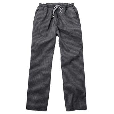ブリティッシュ オーガニック シェフシャツ☆pencil striped chef pants charcoal #AP1665☆ユニフォームデザイナー専門ブランド a.mont☆飲食店・ホテル・サービスユニフォーム(制服)接客・厨房・コックコート・エプロンなどの専門店です♪ ☆a-montパンツ