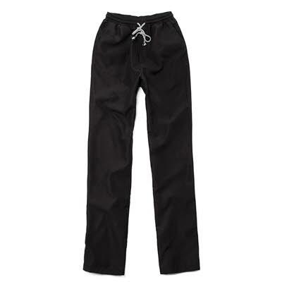 グロッシー シェフパンツ ブラック☆the glossy chef pants black #AP1666☆ユニフォームデザイナー専門ブランド a.mont☆飲食店・ホテル・サービスユニフォーム(制服)接客・厨房・コックコート・エプロンなどの専門店です♪ ☆a-montパンツ