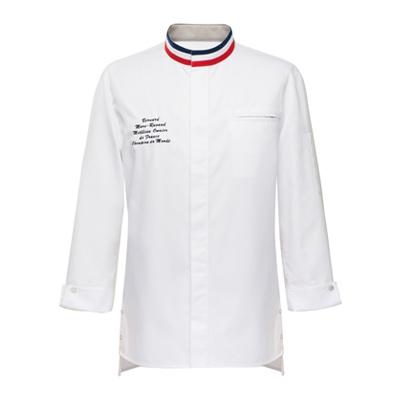立体パターンのシェフコート☆France single chef coat M.O.F #AJ1741 ☆ ユニフォームデザイナー専門ブランド a.mont☆飲食店・ホテル・サービスユニフォーム(制服)接客・厨房・コックコート・エプロンなどの専門店です♪ ☆a-montジャケット