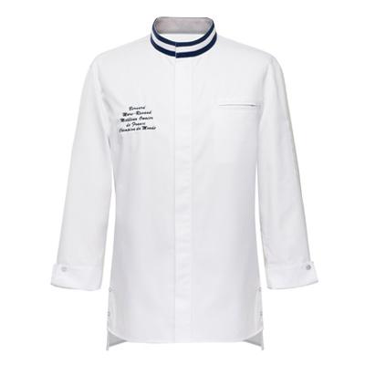 立体パターンのシェフコート☆France Single chef coat basic #AJ1741(Basic) ☆ ユニフォームデザイナー専門ブランド a.mont☆飲食店・ホテル・サービスユニフォーム(制服)接客・厨房・コックコート・エプロンなどの専門店です♪ ☆a-montジャケット