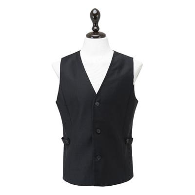 高級感がありアバンギャルドな印象のベスト☆Avant garde Vest Black (Black) #AV1586☆ユニフォームデザイナー専門ブランド a.mont☆飲食店・ホテル・サービスユニフォーム(制服)接客・厨房・コックコート・エプロンなどの専門店です♪ ☆a-montベスト