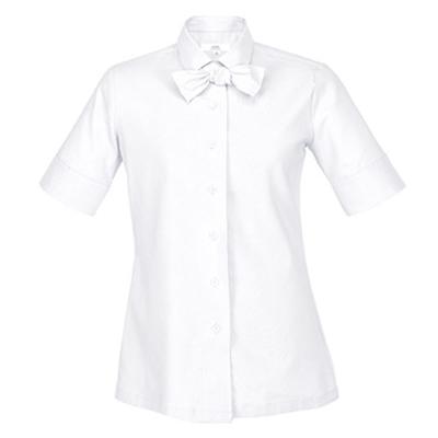感性が感じられるデザインリボンタイ付きシャツ☆Candy bowtie span oxford shirt (White) #AS1847WH☆ユニフォームデザイナー専門ブランド a.mont☆飲食店・ホテル・サービスユニフォーム(制服)接客・厨房・コックコート・エプロンなどの専門店です♪ ☆a-montシャツ