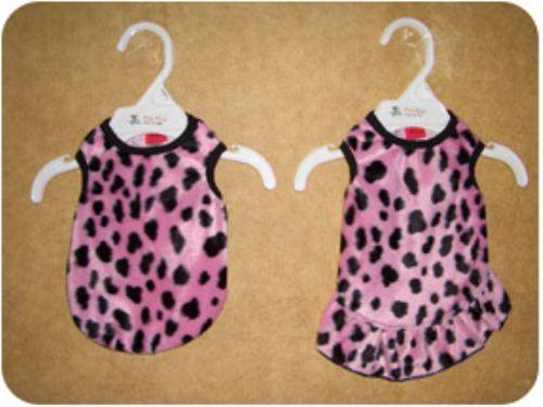 1万円以上のお買い上げで送料無料 Pet Flys ペットフライ Pink 送料無料でお届けします Dalmation Faux 中古 Dress犬用ダルメシアン柄タンク Tank Fur ドレス