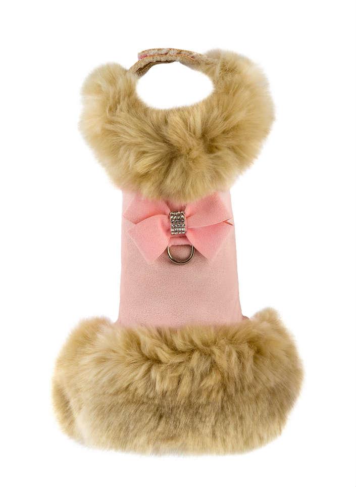 ★Susan Lanci/スーザンランシー★Champagne Fox Fur Coat with Nouveau Bow犬用フェイクファーコート
