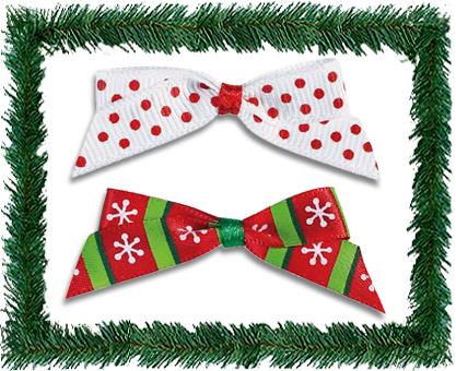 (1万円以上のお買い上げで送料無料)  Holiday Hair Bows