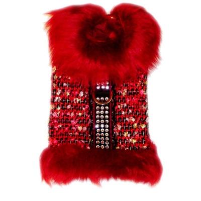 ★供Pooch Outfitters/puchiautofitta★Madeline Fur Coat狗使用的毛皮外套