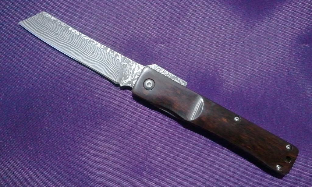 和式ナイフ 71層(片面35層)スネークウッドハンドル