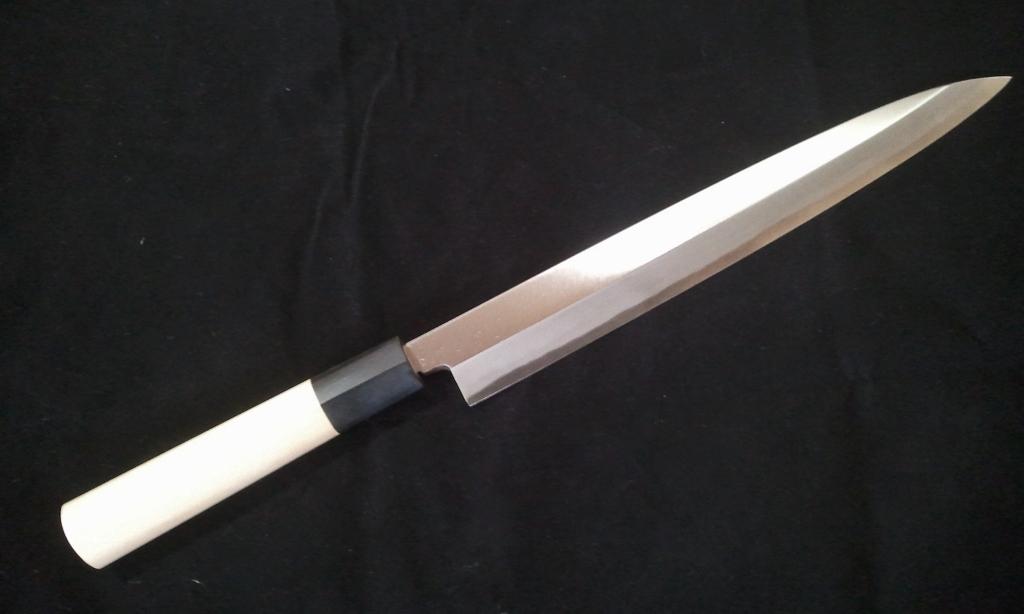 堺手打鍛造柳刃包丁 青紙二号 正夫 刺身包丁 240mm