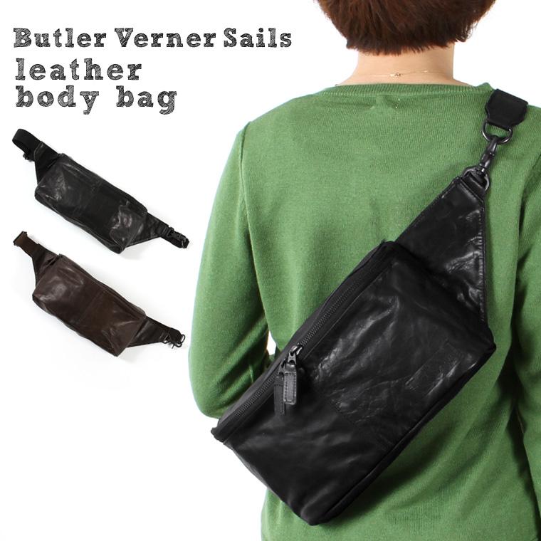 【ボディバッグ バッグ 鞄】日本製 本革 ポニーレザー ボディバッグ メンズ レディース ユニセックス Butler Verner Sails バトラーバーナーセイルズ