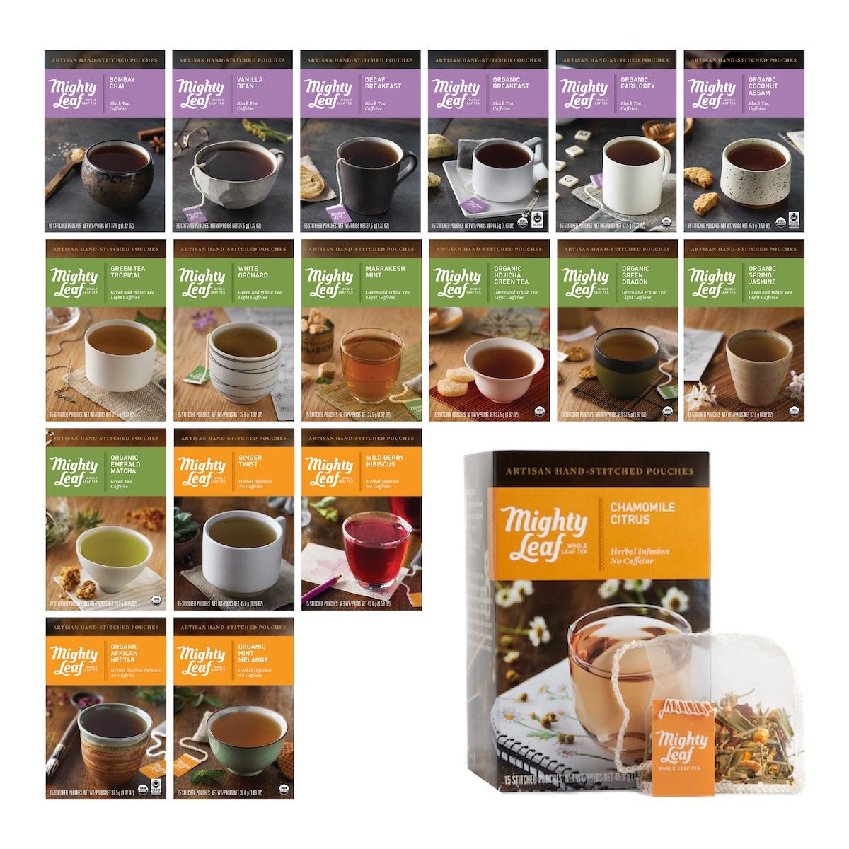マスターティーパウチセット(専用クーポン付)マイティーリーフ オーガニック 紅茶 緑茶 ハーブティー ギフト 送料無料